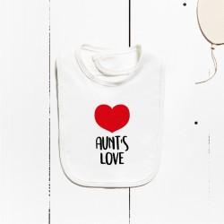 Bavaglino in cotone - L'amore di zia