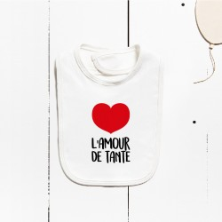 Bavoir en coton - L'amour de tante