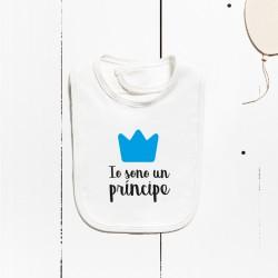 Cotton bib - I am a prince