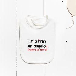 Bavaglino di cotone - Io sono un angelo