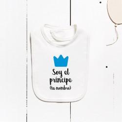 Babeiro algodón - Son o príncipe (PERSONALIZABLE)