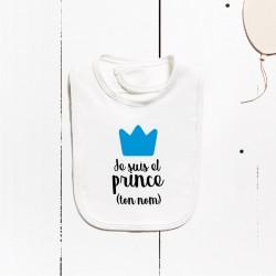 Babero algodón - Soy el príncipe (PERSONALIZABLE)