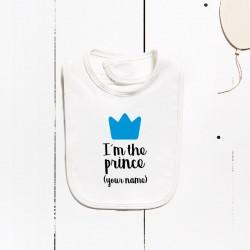 Bavaglino di cotone - Io sono el principe (PERSONALIZZABILE)
