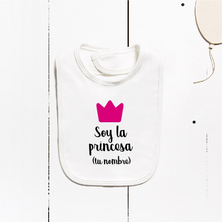 Cotton bib - I´m the princess (CUSTOMIZABLE)