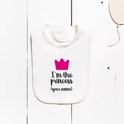 Babero algodón - Soy la princesa (PERSONALIZABLE)