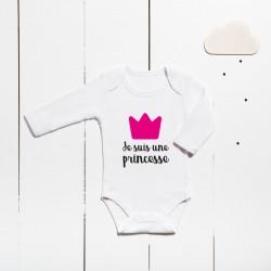Cotton bodysuit - I´m a princess