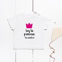 Short sleeve cotton t-shirt - I´m the princess (CUSTOMIZABLE)