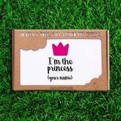 Nouveau-né 4 pièces - Je suis la princesse (PERSONNALISABLE)