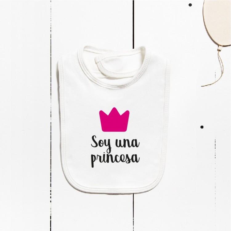 Babero algodón - Soy una princesa