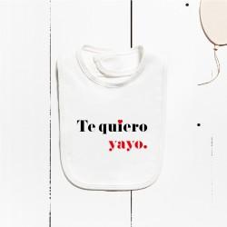 Babero algodón - Te quiero... (PERSONALIZABLE)