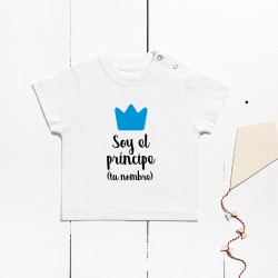 copy of Short sleeve cotton t-shirt - I´m the prince (CUSTOMIZABLE)