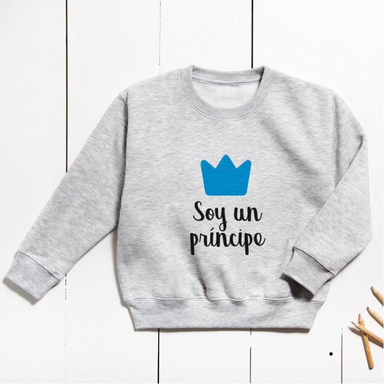 Sudadera Unisex Infantil - Soy un príncipe