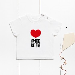 Short-sleeved cotton t-shirt - Aunt's love